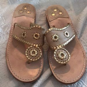 Nude and gold Jack Rogers